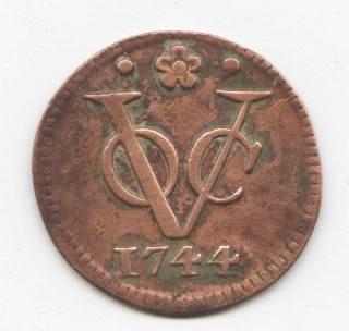 Kleinmünze der Niederländischen Ostindien Kompanie von 1744
