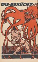 """Abbildung 5: Der Drahtverhau, Nr. 3, September 1918: """"Das Gerücht"""""""