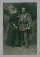 Abbildung 3: Abschiedsfotografie eines Ehepaars aus einem Briefkonvolut (BfZ, N Schüling II, 252)