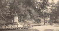 """""""The Hirose Statue in Taketa, Ōita."""". Source: Ōita-ken shashin-jō [Ōita Prefectural Photographic Album]. Ōita-ken, 1920. p. 45-46. Acquired via the Kokuritsu kokkai toshokan dejitaru korekushon. Copyright on the work has expired."""