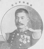 """""""A portrait of Hirose Takeo."""" Source: Tsuboya Zenshirō, Nichiro sen'eki kaigun shashin-shū, dai ni shū [The Navy's Photographic Album of the Russo-Japanese War, Volume 2], p. 5. Acquired via the Kokuritsu kokkai toshokan dejitaru korekushon. Copyright on the work has expired."""