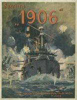 """Das Bild zeigt das Titelbild von """"1906"""" aus der Feder des Berliner Marinemalers und Illustrators Georg Martin"""