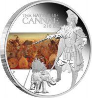 Lebendige Rezeption. 1oz Silber-Gedenkmünze zur Schlacht von Cannae, Perth 2009