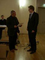 Prof. Dr. Stig Förster (1. Vorsitzender) und Christoph Nübel, M.A. (Preisträger)