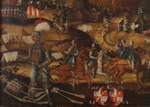 Die Sprengung der Godesburg am 17.12.1583  (Ausschnitt), Inv. Nr. 0160-2012 © Bayerisches Armeemuseum