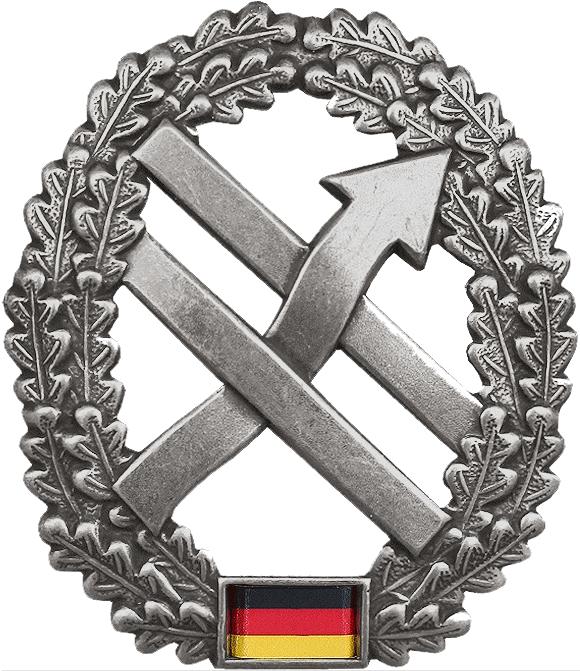 Taktisches Zeichen der PSK. https://de.wikipedia.org/wiki/Truppe_f%C3%BCr_Operative_Kommunikation#/media/Datei:BW_Barettabzeichen_Operative_Kommunikation.png