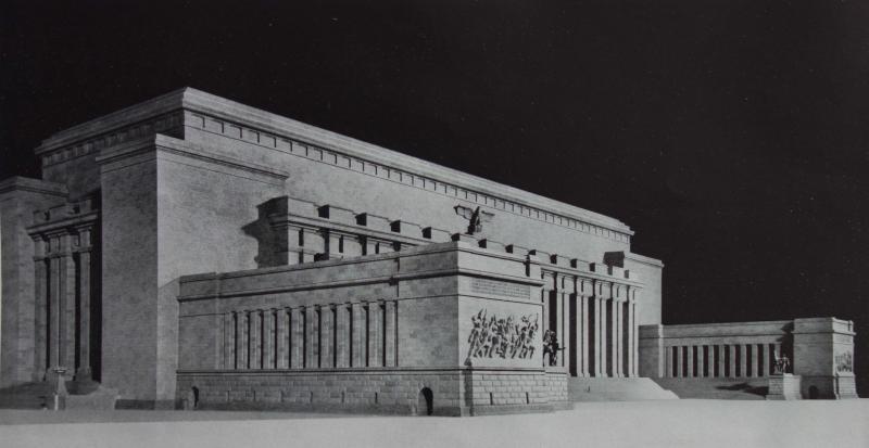Die Baukunst [Beihefte zu Die Kunst im Deutschen Reich] 7 (1943), S. 45: Sodatenhalle.
