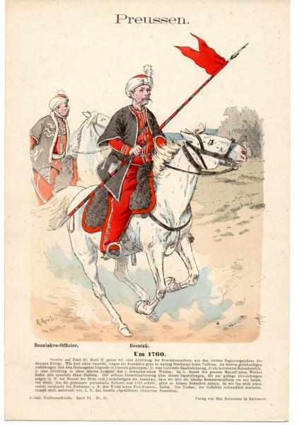 Preussische Bosniaken 1760 - Knötel