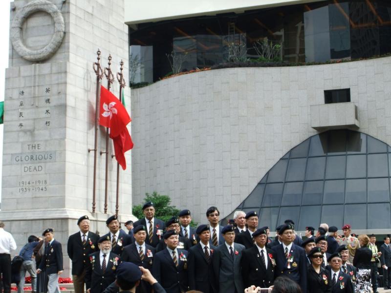 Remembrance Sunday at the Hong Kong Cenotaph, 14.11.2010