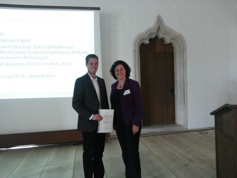 Maximilian Fügen (Preisträger) und Dr. Kerstin v. Lingen (Vorstand)