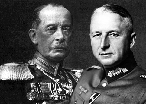 Alfred von Schlieffen und Erich von Manstein (gemeinfrei, Bundesarchiv)