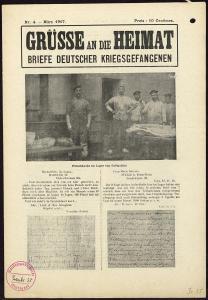 Abbildung 4: Erste Seite eines französischen Flugblatts vom März 1917: Grüsse an die Heimat, Nr. 4 (BfZ, Signatur 1_018_009)