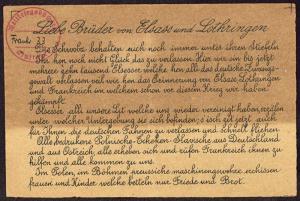 Abbildung 3: Erste Seite eines undatierten französischen Flugblatts (BfZ, Signatur 1_020_004)