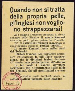 Abbildung 11: Österreichisch-ungarisches Flugblatt von 1918 (BfZ, Signatur 1_063_001)