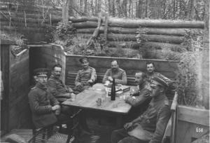 Abb. 3: Offiziersunterstand in den Vogesen. Quelle: BfZ/WLB, WK1, Nr.92