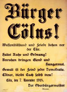 Abb. 3: Mahnende Worte der letzten Kriegstage von Konrad Adenauer, Bibliothek für Zeitgeschichte, 2.0/235