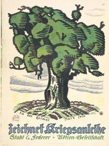 Abb. 8: Der preisgekrönte Entwurf von Karl Sigrist für den Stuttgarter Plakatwettbewerb von 1917, Bibliothek für Zeitgeschichte, 2.5/19