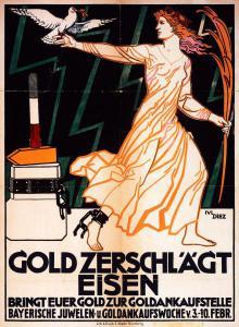 Abb. 9: Plakat nach einem Entwurf von Julius Diez, 1918, Bibliothek für Zeitgeschichte, 2.4/23