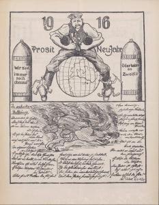 """Abbildung 3: """"Der bayerische Landwehrmann"""", Nr. 6 vom 24.12.1915: """"Prosit Neu-Jahr"""""""