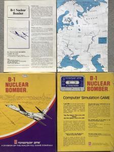 Abb. 5: B-1 Nuclear Bomber versetzte den Spieler in die Rolle des Piloten eines Interkontinentalbombers und lieferte sogar Kartenmaterial. B1 Nuclear Bomber, Avalon Hill 1980: Der nukleare Vergeltungsschlag gegen die Sowjetunion als Spielziel (Bild: Piasecki)