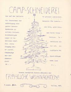 Abbildung 6: Lager-Laterne, Weihnachtsausgabe 1916. Werbung für die Camp-Schneiderei des Internierungslagers Douglas auf der britischen Insel Ilse of Man.