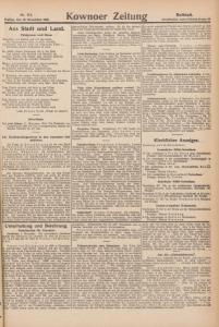 Abbildung 7: Kownoer Zeitung, Nr. 313 vom 10.11.1916, Beiblatt: Viel Text, wenig Abbildungen.