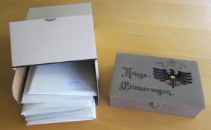 Abbildung 4: Ein Konvolut von Briefen und Tagebüchern aus dem Ersten Weltkrieg in der Lebensdokumentensammlung der Bibliothek für Zeitgeschichte