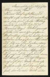 Abbildung 6: Brief einer Mutter an ihren ins Feld ziehenden Sohn, Flammersbach / Hessen, 1. August 1914 (BfZ, N:Schüling, Bd.27.1)