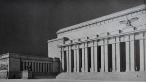 Die Baukunst [Beihefte zu Die Kunst im Deutschen Reich] 7 (1943), S. 44: Soldatenhalle.