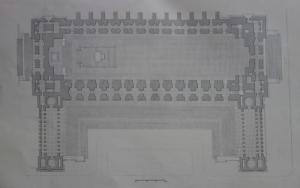 Die Baukunst [Beihefte zu Die Kunst im Deutschen Reich] 7 (1943), S. 47: Grundriss der Soldatenhalle.