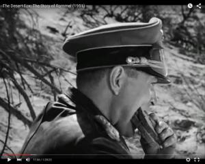 "Abb. 2: Rommel (James Mason) verspeist ein Schwarzbrot (""The Desert Fox: The Story of Rommel"" 1951/20th Century Fox, Screenshot, auf Youtube https://www.youtube.com/watch?v=T4n48bVGom8)"