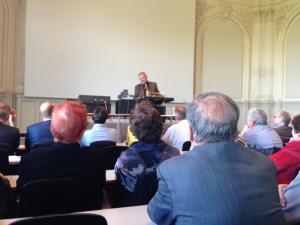 Stig Förster bei der Abschiedsvorlesung an der Universität Bern