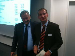 Prof. Dr. Stig Förster (Laudatio) und Steffen Leins, M.A. (Preisträger)