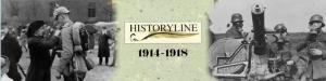 """Kollage aus Titelbild """"Historyline 1914-1918 (Blue Byte, 1993) sowie freien zeitgenössischen Fotografien aus dem ersten Weltkrieg (Kollage: Piasecki)"""