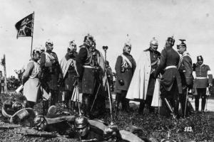 Wilhelm II. und Generalstabschef Moltke d.J. im Manöver