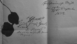 Unterschriften unter der Konvention von Tauroggen