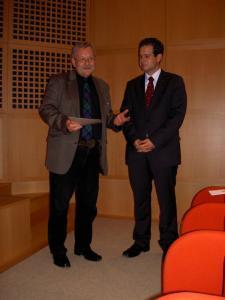 Prof. Dr. Stig Förster (1. Vors.) und Peter Maria Quadflieg, M.A. (Preisträger)