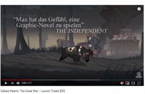 Valiant Hearts (trailer screenshot)