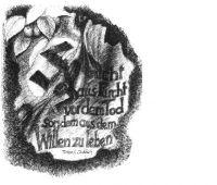 Der erste Entwurf des Denkmals vom Göttinger Bildhauer Joachim Nitsch (1988)