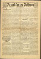 Abbildung 2: Französisches Flugblatt: Gefälschte Ausgabe der Frankfurter Zeitung vom 31.7.1917 (BfZ, Signatur 1_014_014)