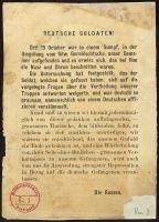 Abbildung 8: Russisches Flugblatt, vermutlich von 1915/16 (BfZ, Signatur 1_067_008)