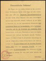 Abbildung 10: Italienisches Flugblatt, vermutlich von 1918 (BfZ, Signatur 1_049_012)