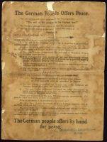 Abbildung 14: Deutsches Flugblatt von 1918 (BfZ, Signatur 1_003_001)
