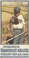 Abb. 12: Plakat des ungarischen Malers  Pál Suján für die Kriegsfürsorge-Ausstellung in Bratislava, 1917, Bibliothek für Zeitgeschichte, 6.3/11