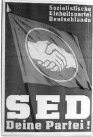 Abb. 3. Wahlplakat der SED, 1950 (BA, Bild 183-08483-0003)