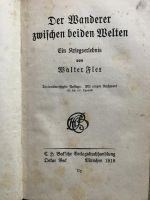 """Abb. 3: Erste Post-mortem-Ausgabe des Klassikers der Bewältigungsliteratur. """"Wanderer zwischen beiden Welten"""" (1918) - der Klassiker der deutschen Bewältigungsliteratur (Bild: Piasecki)"""