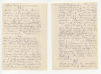 Abbildung 8: Loses Blatt aus dem Tagebuch eines Leutnants der Reserve bei der Feldartillerie, Eintrag vom 23. und 24. August 1918, notiert in der Nähe von Longueval / Somme (BfZ, N04.10)