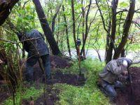Freilegen eines Schützengrabens (Quelle: K. Straub)