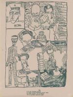 Abb. 2: Blatt 9: Parodistische Darstellung der Arbeit der Presseabteilung Ober Ost