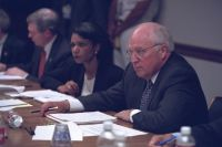 Cheney, Rice, 9/11/2001, National Archives, Vice Presidential Records of the Photography Office